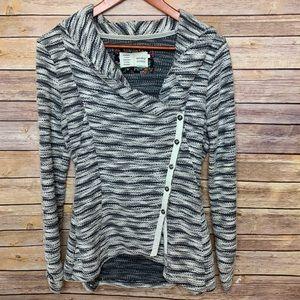 [Anthropologie] Heather Grey Button Sweater